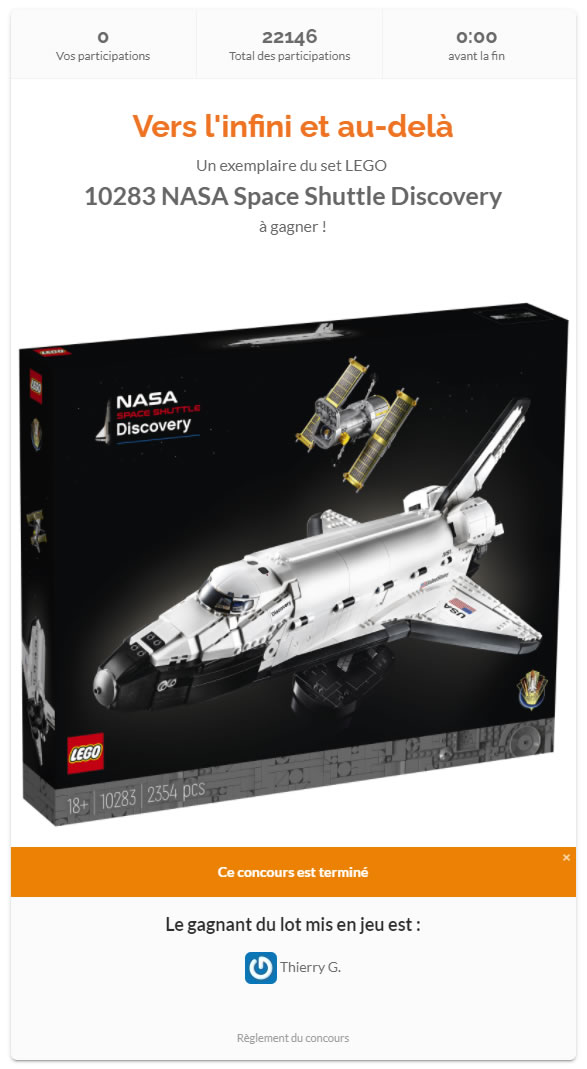 lego 10283 space shuttle discovery contest results hothbricks