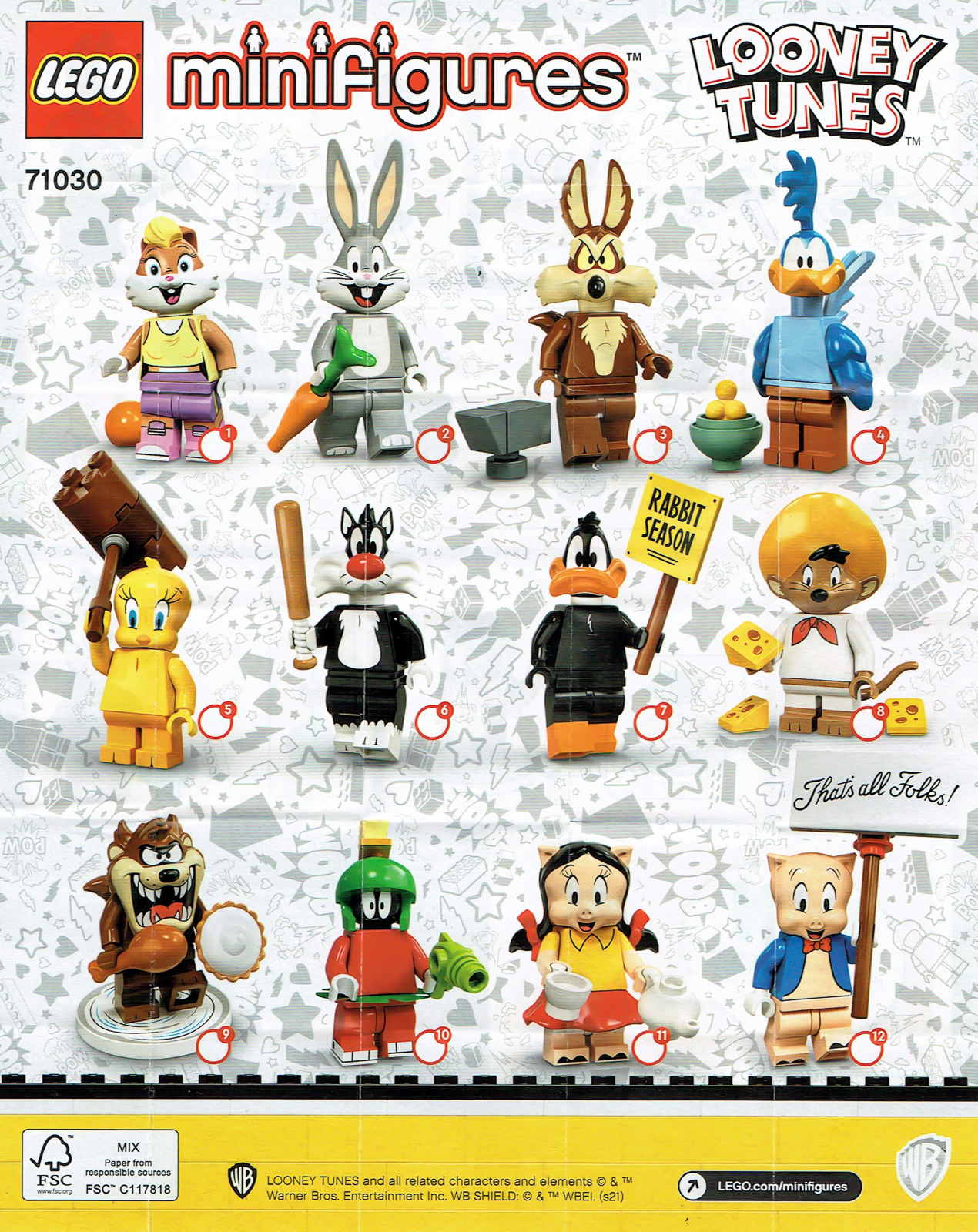 LEGO : Ze topik =) - Page 8 71030-lego-looney-tunes-collectible-series-2021