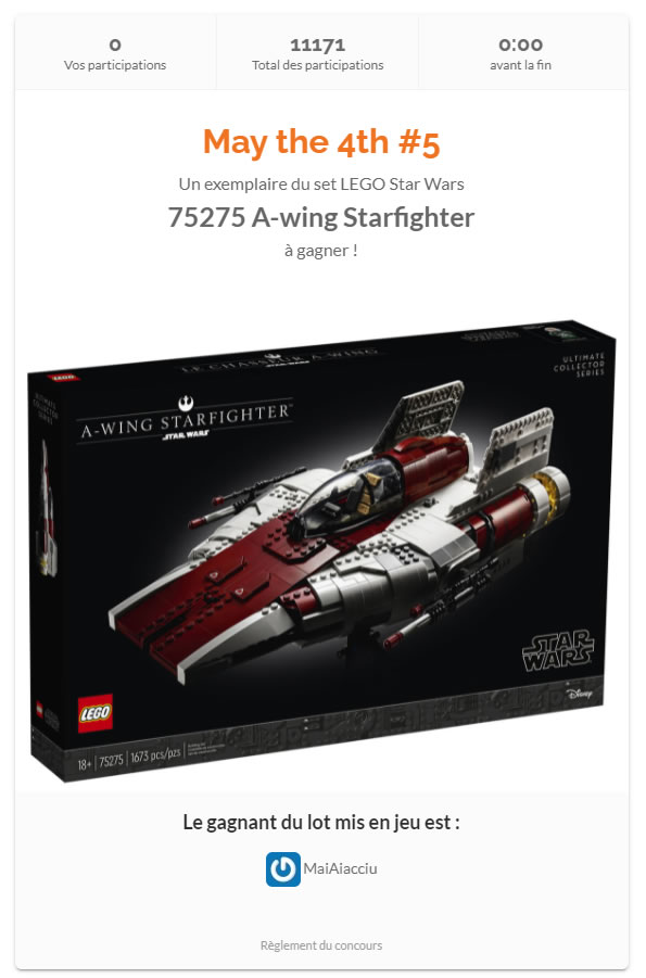 lego 75275 awing starfighter contest results hothbricks