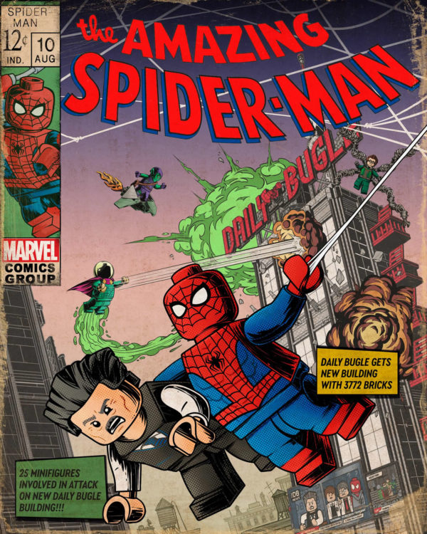 lego marvel 76178 daily bugle comic cover