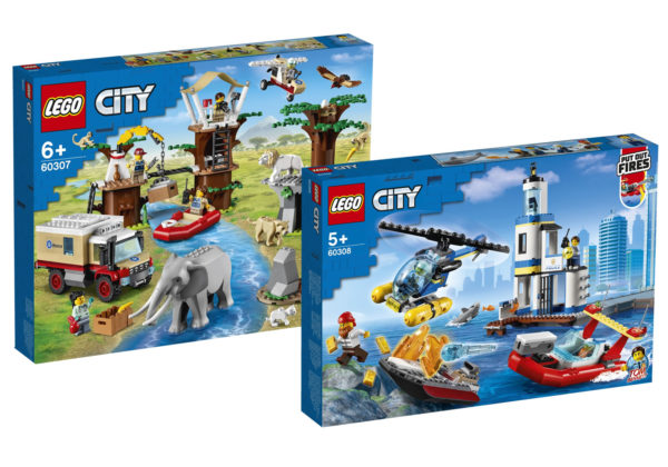LEGO CITY 60307 Wildlife Rescue Camp & 60308 Seaside Police and Fire Mission