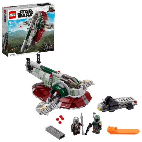 75312 lego starwars boba fett starship