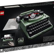 lego ideas 21327 typewriter box back