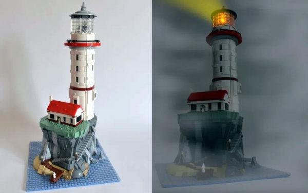 lego ideas motorized lighthouse project