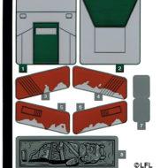 lego starwars 75312 boba fett starship slave I sticker sheet