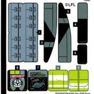 lego starwars 75314 bad batch attack shuttle sticker sheet