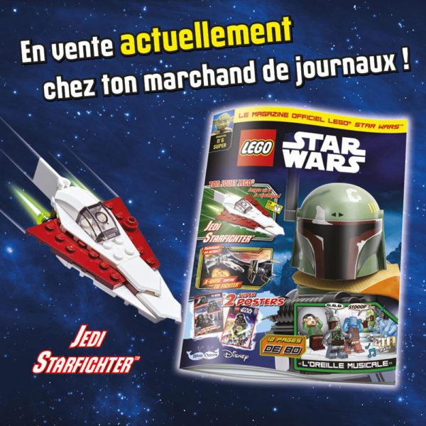magazine lego starwars juin 2021 jedi starfighter