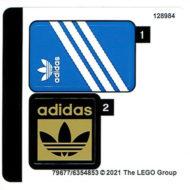 lego gwp 40486 adidas originals superstar sticker sheet