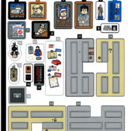 lego ideas 21328 seinfeld sticker sheet
