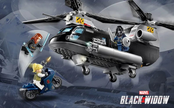 lego marvel black widow helicopter chase 76162