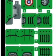 lego marvel what if 76201 captain carter hydra stomper sticker sheet