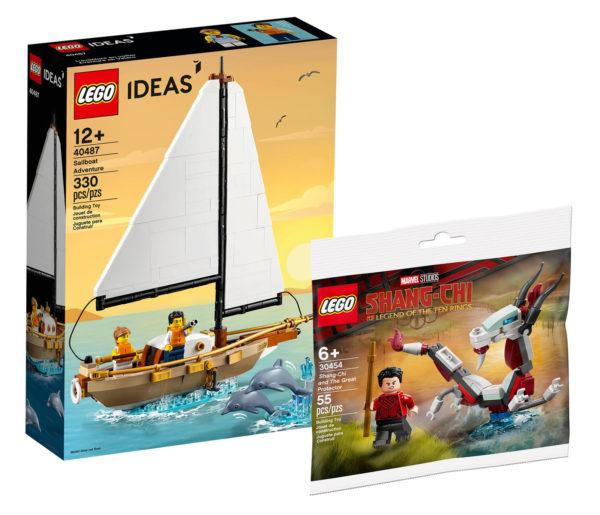 lego promo offers aout 2021 lego ideas 40487 lego marvel 30454