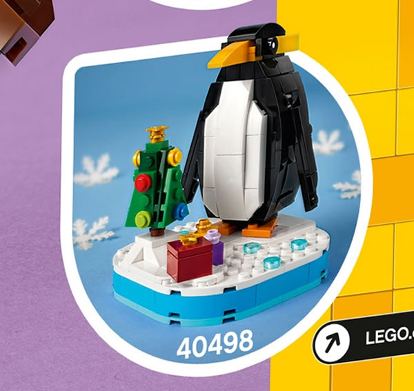 lego seasonal 40498 winter pinguin 2021