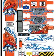 lego technic 42128 heavy duty tow truck sticker sheet