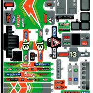 lego technic 42129 4x4 mercedes benz zetros trial truck sticker sheet