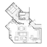seinfeld appartement floor plan