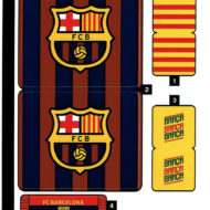 40485 lego fc barcelona celebration sticker sheet