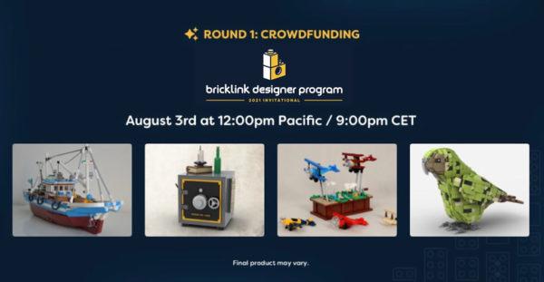 bricklink designer program 2021 crowdfunding round1 more sets