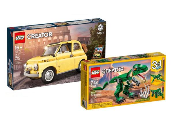 lego 10271 fiat 500 31058 mighty dinosaurs