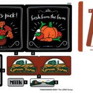 lego 10290 pickup truck sticker sheet
