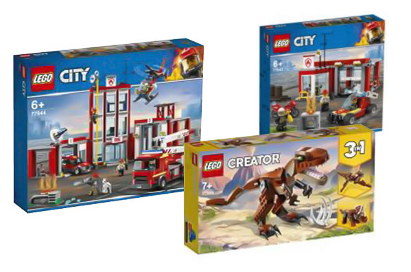 lego city 77944 fire station 77940 mighty dinosaurs 2021 2 1