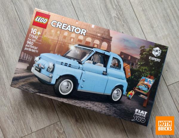 77942 lego fiat 500 blue limited edition