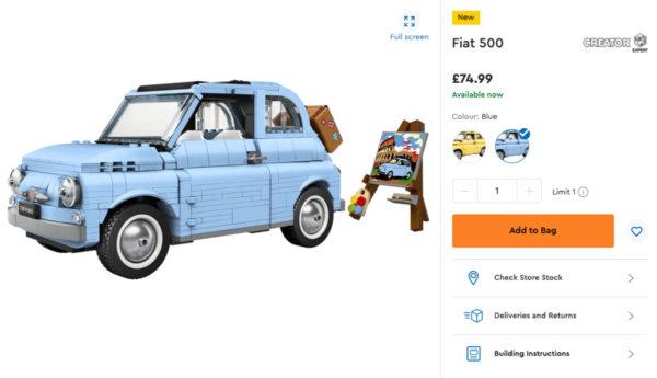 77942 lego fiat 500 order uk