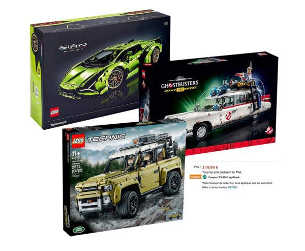 Chez Amazon : quelques véhicules LEGO encore moins cher grâce aux coupons