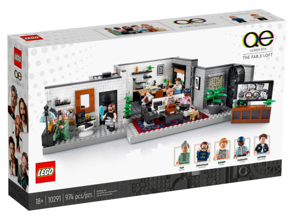 lego 10291 queer eye the fab 5 loft box front