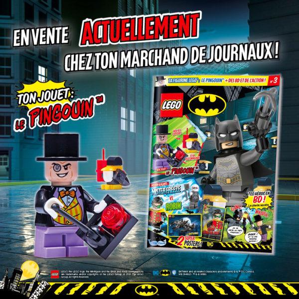 En kiosque : Le numéro de septembre 2021 du magazine officiel LEGO Batman