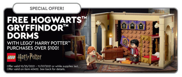 lego harry potter 40452 hogwarts gryffindor dorms