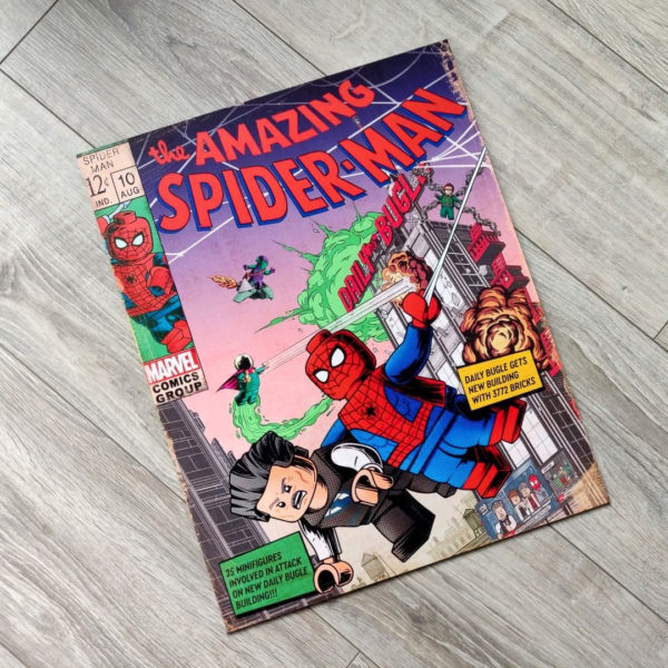 lego marvel daily bugle spider man poster printed