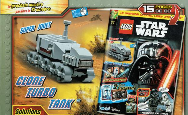 lego starwars magazine octobre 2021 clone turbo tank