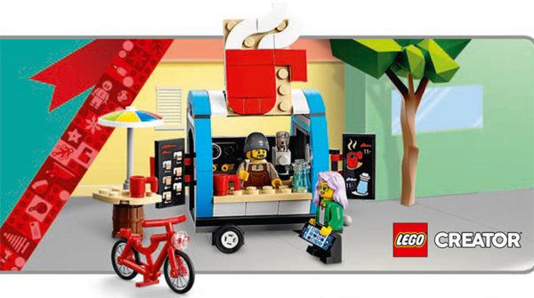 En novembre 2021 sur le Shop : 40488 LEGO Coffee Cart offert