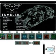 76240 lego dc comics batman matmobile tumbler sticker sheet