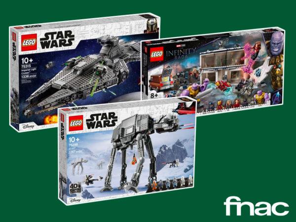 Offre sur FNAC.com : 15 % de réduction sur les univers LEGO Disney, Star Wars et Marvel