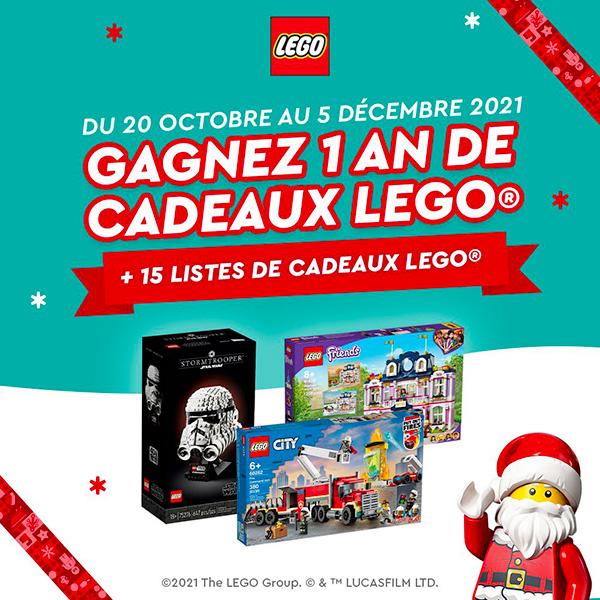 1 an de cadeaux LEGO à gagner : LEGO régale pour Noël