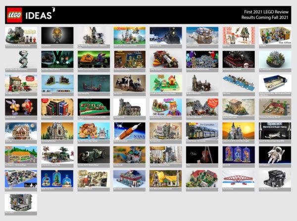 1ère phase de review LEGO Ideas 2021 : résultats attendus le 15 octobre