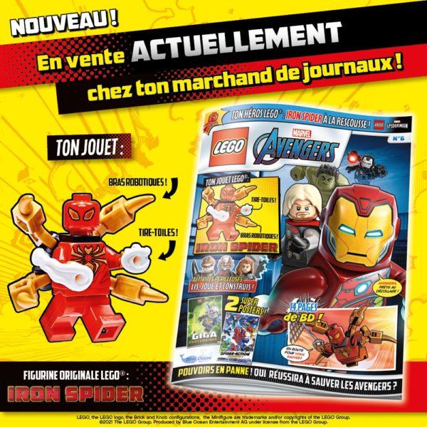 En kiosque : le numéro d'octobre 2021 du magazine officiel LEGO Marvel Avengers