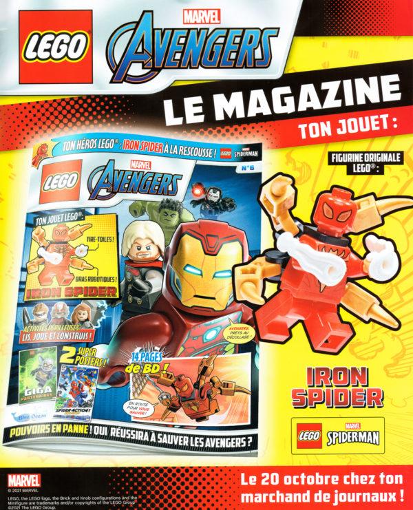 En octobre avec le magazine officiel LEGO Marvel Avengers : une minifig d'Iron Spider