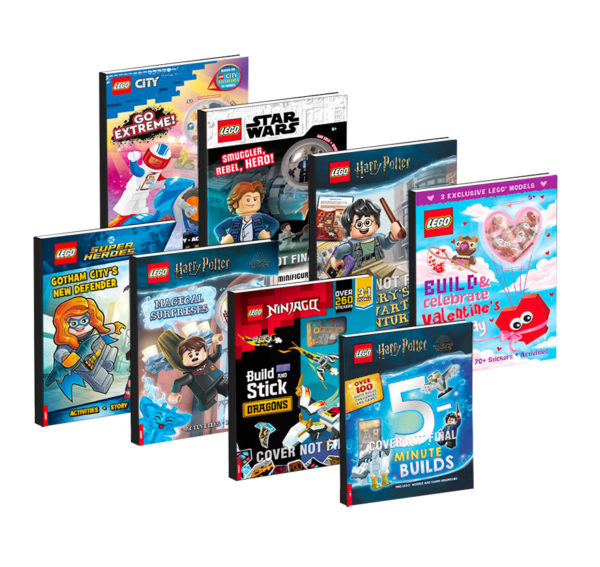 À paraître en 2022 : livres d'activités LEGO Harry Potter, Star Wars, Jurassic World Dominion, Ninjago et Super Heroes