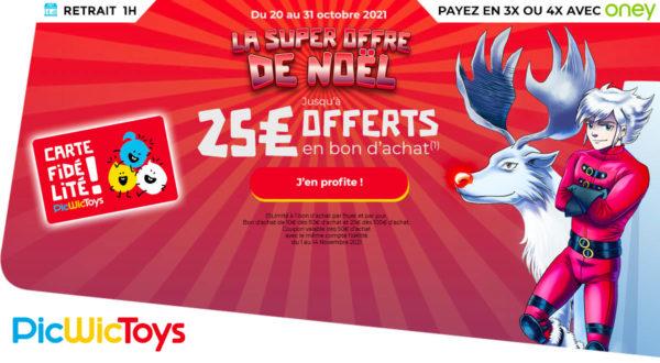 Chez PicWicToys : 25 € offerts en bon d'achat dès 100 € dépensés
